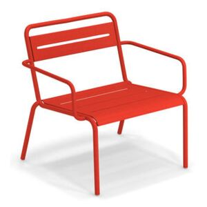 Star Stackable low armchair - / Metal by Emu Red