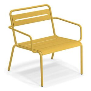 Star Stackable low armchair - / Metal by Emu Yellow