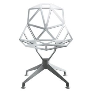 Chair One 4Star Swivel armchair - Metal by Magis White