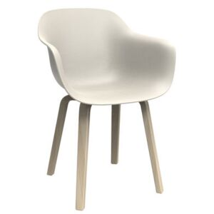 Substance Armchair - Polypropylene & wooden feet by Magis White/Natural wood