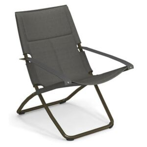 Snooze Cosy Reclining chair - / Mesh fabric - Foldable - 2 positions by Emu Grey