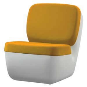 Nimrod Low armchair by Magis White/Yellow