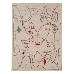 Silhouette Rug - / By Jaime Hayon - 170 x 240 cm / Wool by Nanimarquina Multicoloured/Beige