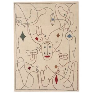 Silhouette Outdoor Outdoor rug - / By Jaime Hayon - 300 x 400 cm / Recycled PET fibre by Nanimarquina Multicoloured/Beige