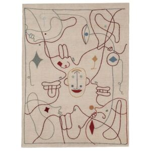Silhouette Rug - / By Jaime Hayon - 300 x 400 cm / Wool by Nanimarquina Multicoloured/Beige