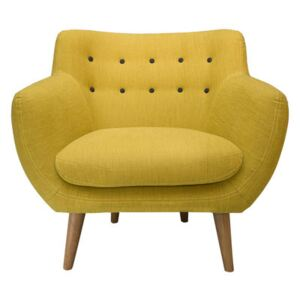 Coogee Padded armchair by Sentou Edition Yellow