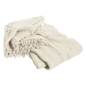 Crinkle Bedspread - / Pleated cotton - 270 x 270 cm by Hay White/Beige