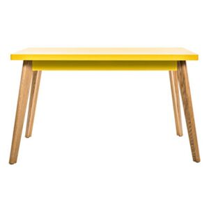 55 Rectangular table - 130 x 70 cm - Wood legs by Tolix Yellow/Natural wood