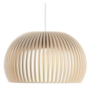 Atto Pendant - LED / Ø 34 cm by Secto Design Natural wood