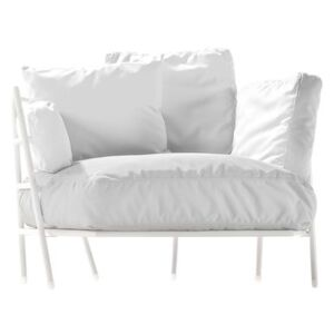 Dehors Padded armchair - Outdoor by Alias White