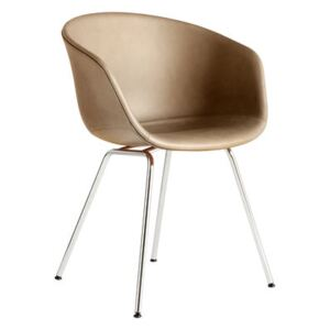 About a chair AAC27 Padded armchair - / Full leather & metal by Hay Beige
