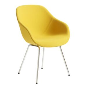 About a chair AAC127 Padded armchair - / High backrest - Integral fabric & metal by Hay Yellow