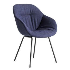 About a chair AAC127 Soft Padded armchair - / High backrest - Full quilted fabric & metal by Hay Blue