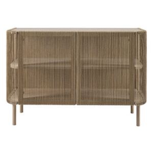 Cord Dresser - / Braided paper cord - L 120 x H 80 cm by Bolia Natural wood