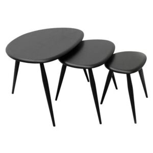 Originals Nested tables - Set of 3 nesting table - Reissue 1950' by Ercol Black