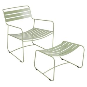 Surprising Lounger Set armchair & footrest - With footrest by Fermob Green