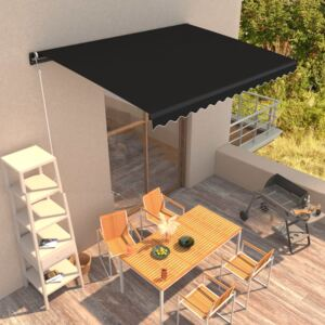 VidaXL Manual Retractable Awning 400x300 cm Anthracite