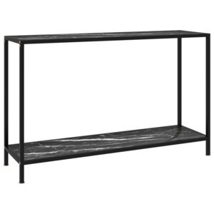 Console Table Black 120x35x75 cm Tempered Glass