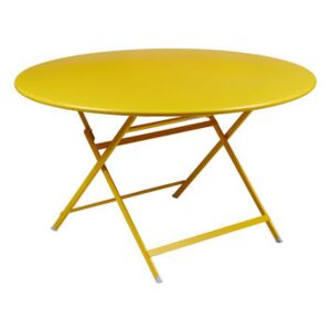 Caractère Foldable table - / Ø 128 cm / 7 people by Fermob Yellow