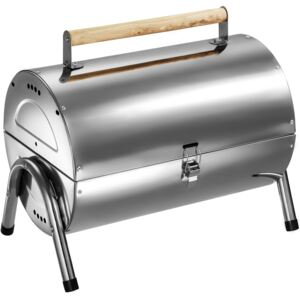 Tectake 402328 bbq stainless steel - silver