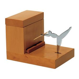 Toothpick dispenser - / Alessi 100 Values Collection by Alessi Natural wood