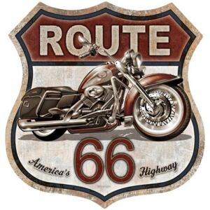 Metal sign Rout 66 Bike, (28 x 28 cm)