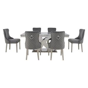 Dolce Dining Table and 6 Side Chairs