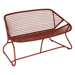 Sixties Straight sofa - / L 118 cm - Woven plastic by Fermob Red