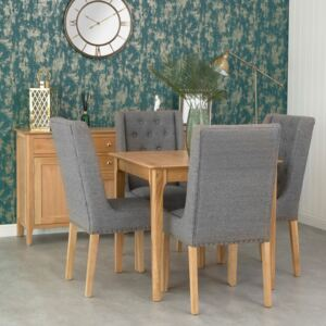 Bergen Oak Square Fixed Top Dining Table