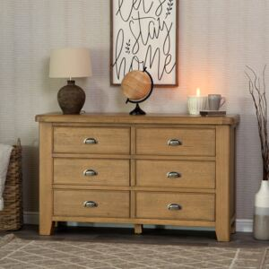 Wessex Smoked Oak Chest of 6 Drawers