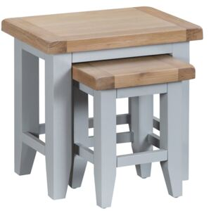 Suffolk Grey Painted Oak Nest Of 2 Tables