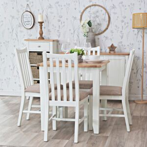 Gloucester White Painted Square Fixed Top Dining Table