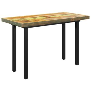 VidaXL Dining Table with I-shaped Legs 120x60x77 cm Solid Reclaimed Wood