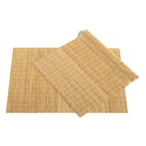 Bamboo Placemat - / Set of 2 by Hay Beige/Natural wood