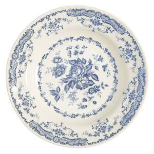 Rose Soup plate - / Ø 23.3 cm by Bitossi Home White/Blue