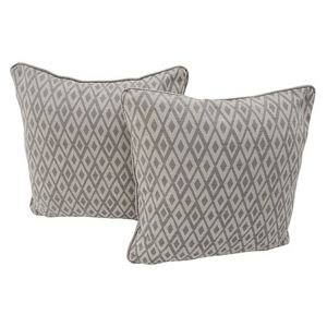Comfi Fabric Pair of Scatter Cushion - Grey