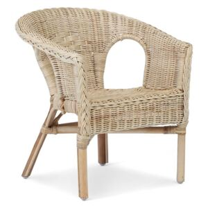 Kids Wicker Loom chairs in Natural