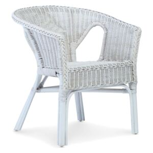 Wicker Loom Chairs in White