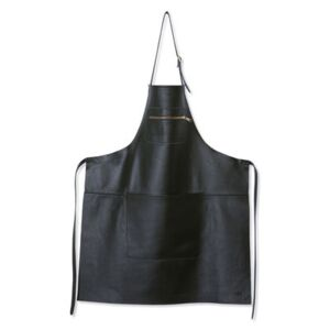 Apron - leather / Zipped pocket by Dutchdeluxes Black