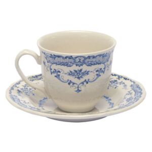 Rose Teacup - / With saucer by Bitossi Home White/Blue