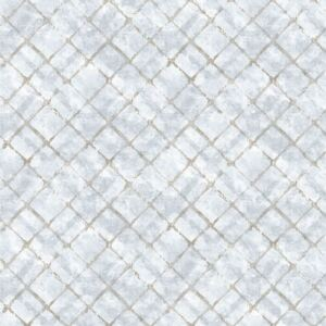 Homestyle Wallpaper Tiles Blue and Taupe
