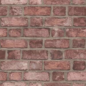 Homestyle Wallpaper Brick Wall Red