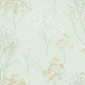 Homestyle Wallpaper Herbs and Flowers Green and Beige