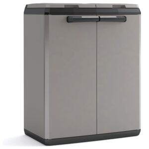 """Keter Recycling Cabinet """"Split Basic"""" Grey and Black 85 cm"""