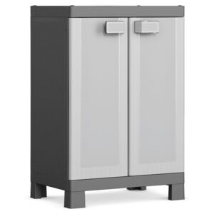 Keter Low Storage Cabinet Logico Black and Grey 97 cm