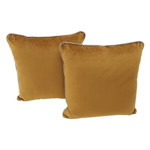 Comfi Fabric Pair of Scatter Cushion - Brown