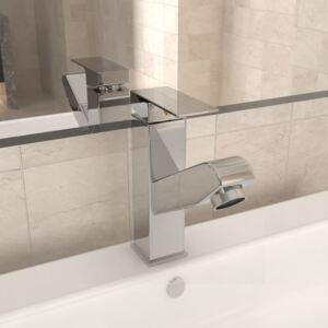 VidaXL Bathroom Basin Faucet with Pull-out Function Chromed Finish 157x172 mm