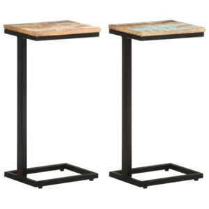 Side Tables 2 pcs 31.5x24.5x64.5 cm Solid Reclaimed Wood