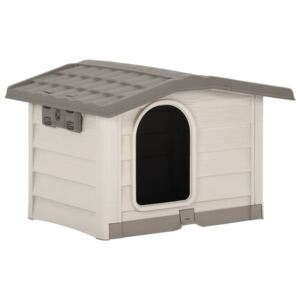 Dog House Beige and Brown 89x75x62 cm
