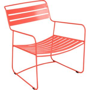 Surprising Lounger Low armchair by Fermob Red